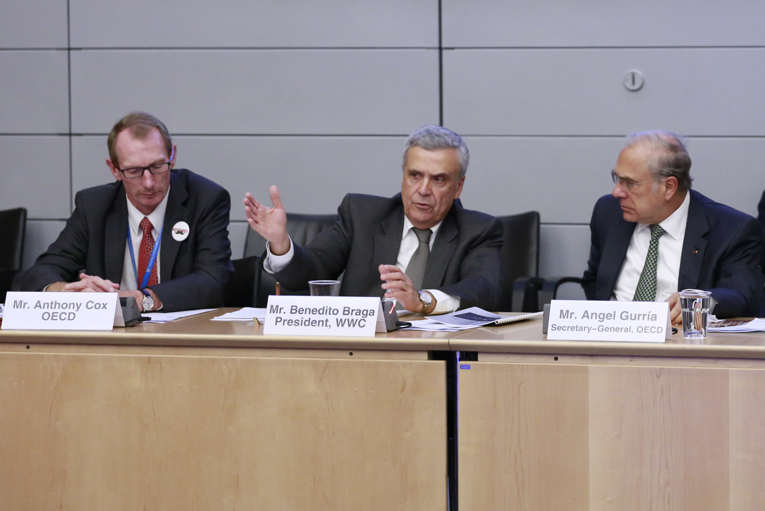 High Level Panel on Infrastructure Financing for a water-secure world, OECD Headquarters, Paris, 26 November 2014