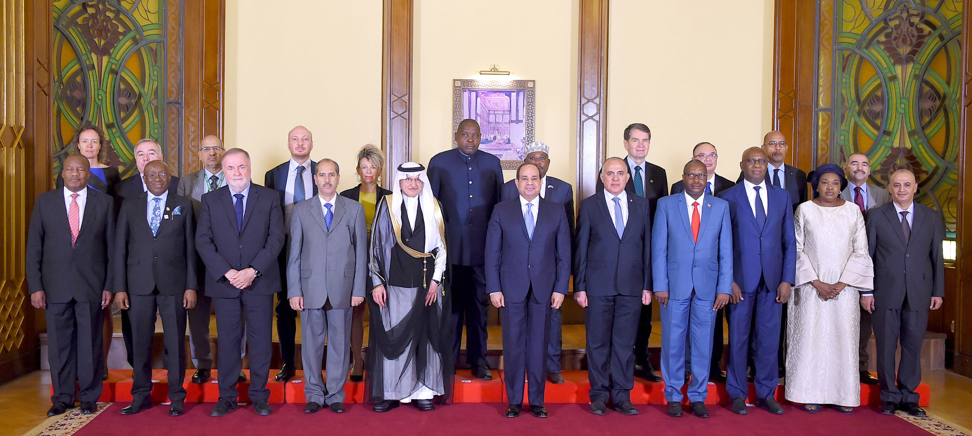 Loïc Fauchon during Cairo Water Week, welcomed by President Abdel Fattah el-Sisi of Egypt, at the President's Palace, together with other high dignitaries, Cairo, Monday 21 October 2019