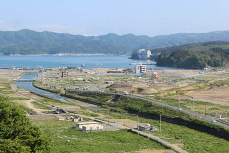 Impacted area by the Great East Japan Earthquake and Tsunami of 2011