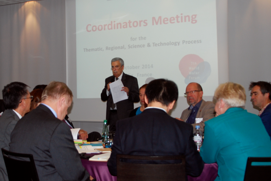 President Braga welcomes participants to the 7th World Water Forum coordinators meeting, 24 October 2014, Marseille, France