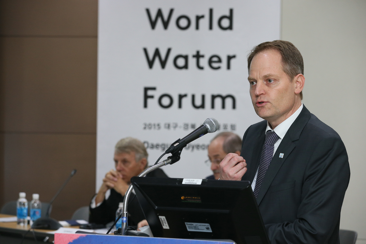 'IWRM Post-2015: a New Way Forward' HLP - Daegu, 15 April. Photo: World Water Council.