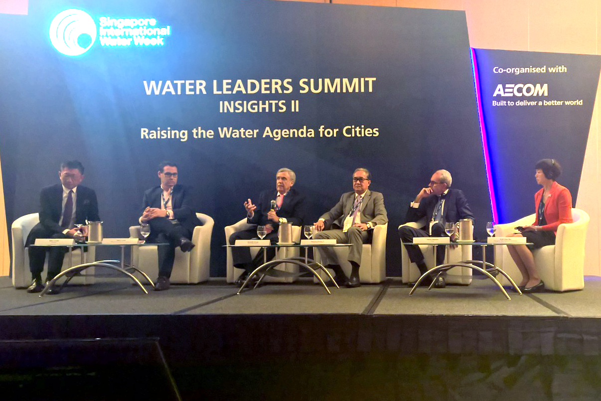 "World Water Council President Benedito Braga participates in the session ""Raising the Water Agenda for Cities"" at the Water Leaders Summit, Singapore International Water Week, 12 July 2016"