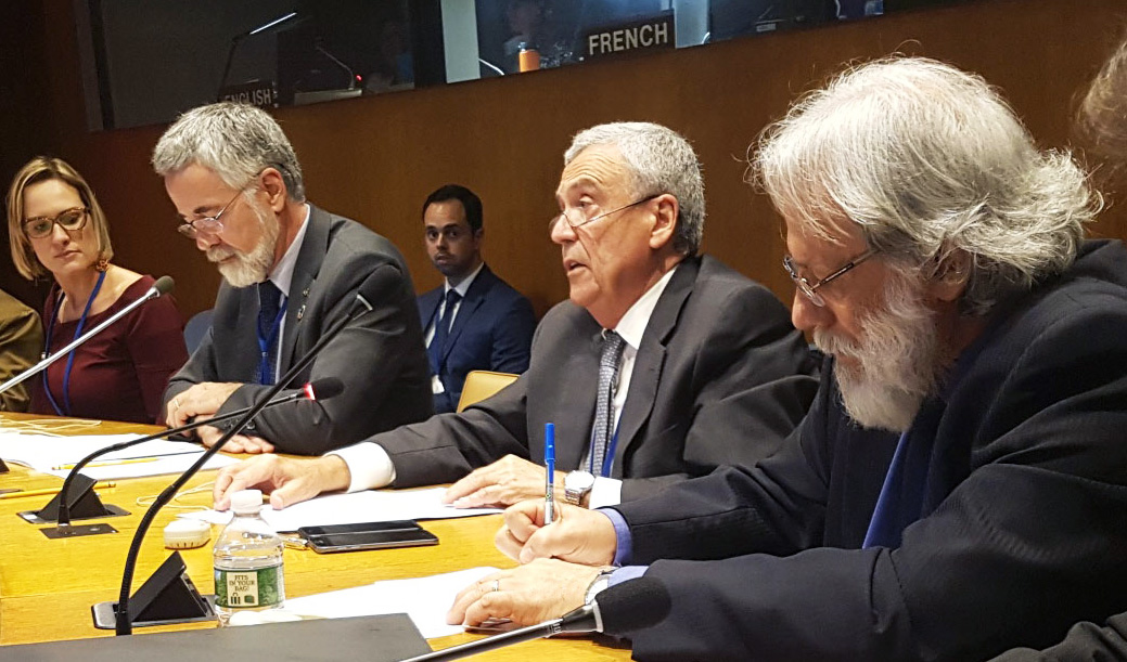 Benedito Braga, President of the World Water Council, during his speech at the UN High Level Political Forum