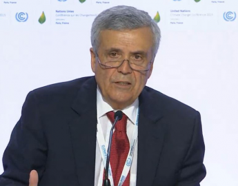 "World Water Council President Benedito Braga speaking at the CoP21 press event ""Climate is Water - from Paris to Marrakech"", Paris, 2 December 2015"