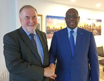 Loïc Fauchon, President of the World Water Council and H.E. Macky Sall, President of the Republic of Senegal