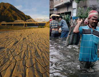 WEF's report lists failure to respond and adapt to climate change as one of the most impactful global risks. Photo composite: WWC/Phanindra Sarkar, WWC/Razon Rosemarie