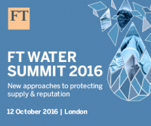 Financial Times Water Summit 2016 event logo