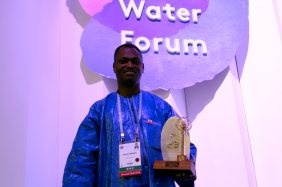 Laureate of the King Hassan II Great World Water Prize Abdou Maman at the 7th World Water Forum, Daegu, Republic of Korea. Photo: World Water Council